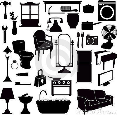 Silhouettes furniture and other objects