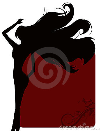 Silhouettes Girl Background Stock Photos - Image: 11279663
