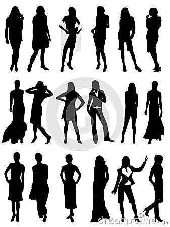 Silhouettes kvinnan