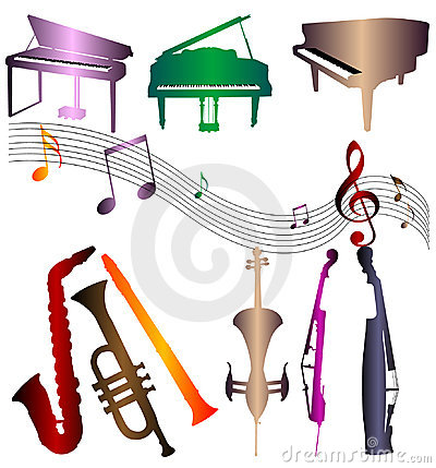 Silhouettes musical instrument