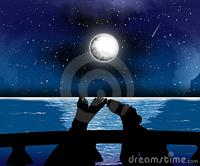 Silhouettes night