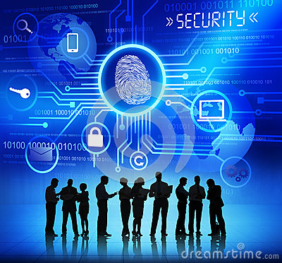 Free Silhouettes Of Business People And Security Concepts Stock Photo - 41494060