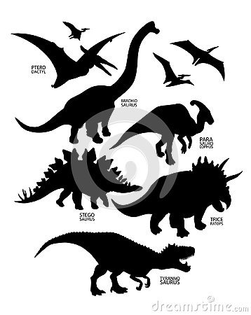 Free Silhouettes Of Dinosaur Stock Image - 119583011