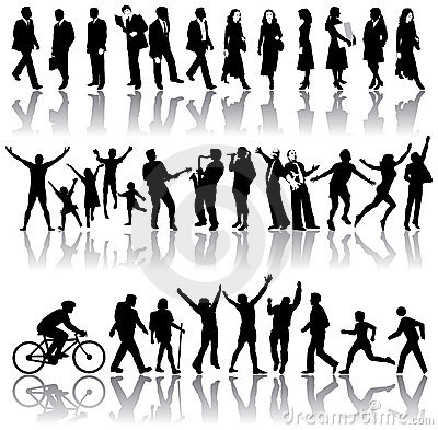Free Silhouettes Of People Royalty Free Stock Photos - 8474978