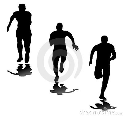 Free Silhouettes Of Runners Royalty Free Stock Photography - 6819207
