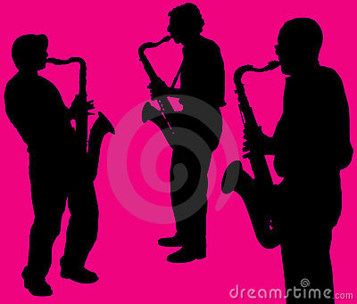 Silhouettes of sax players