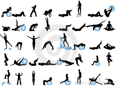 Silhouettes of sport
