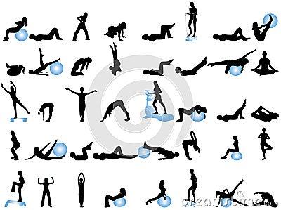 Silhouettes sporten