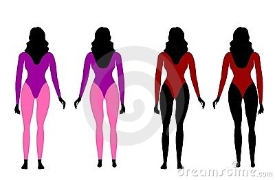 Silhouettes of women in sportswear