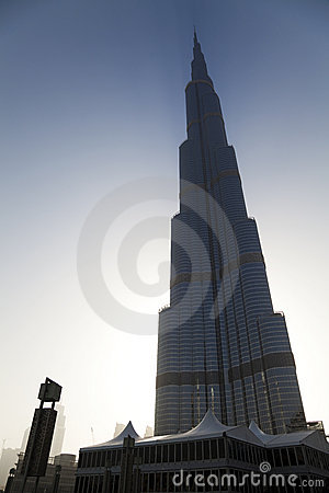Silhoutte of Burj Dubai, Dubai, UAE Editorial Stock Photo