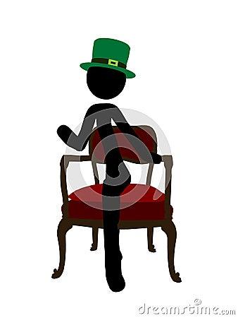 Silhueta da ilustração de Stickman do dia do St. Patricks
