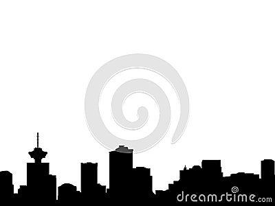 Silhueta da skyline de Vancôver