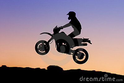 Silhueta do velomotor