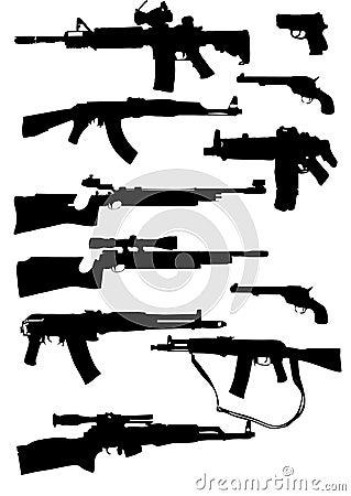Silhuetas da arma