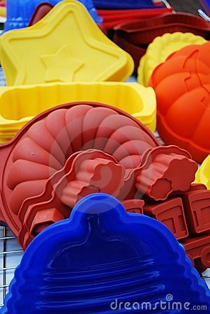 Free Silicone Baking Pans Royalty Free Stock Photography - 19310187