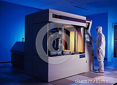 Silikonoblatemaschine