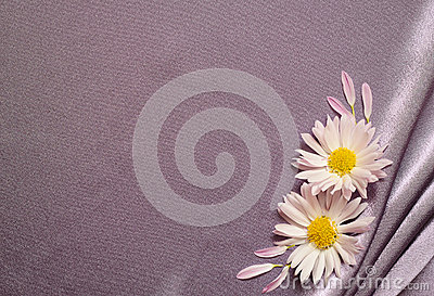 Silk fabric with flowers