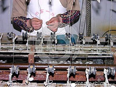 Silk manufacturing