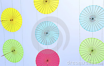 Silk parasol