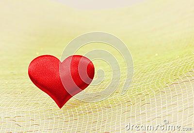 Silk red heart
