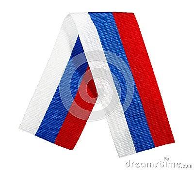 Silk ribbon - the Russian flag