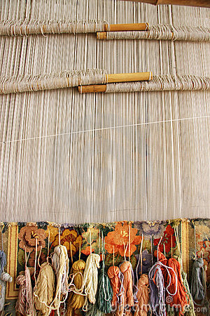 Silk Rug Weaving