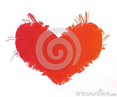 Silk valentine heart