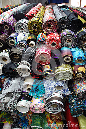 Silk in various colors