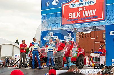 Silk Way Rally start Editorial Photography