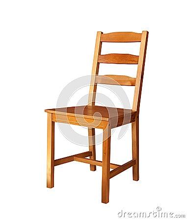 Silla de madera aislada fotograf a de archivo imagen for Disenos de sillas de madera