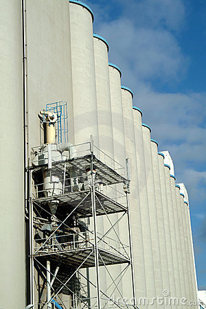 Silo of cereals