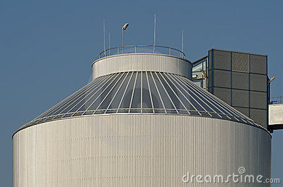 Silo of an industrial plant
