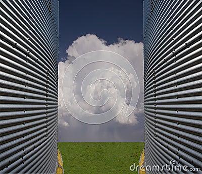 Silos e paisagem