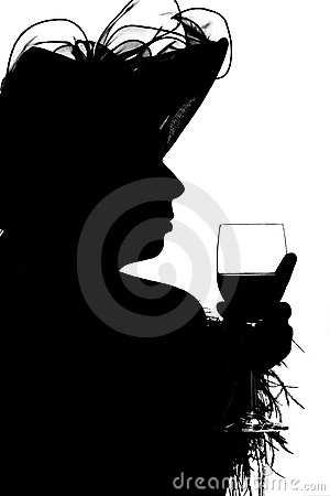 Free Silouette Of A Lady Royalty Free Stock Photos - 389658