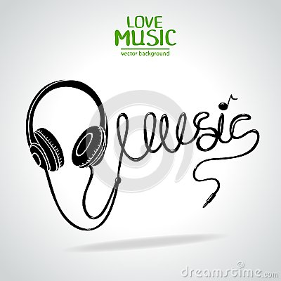 Silueta de la música