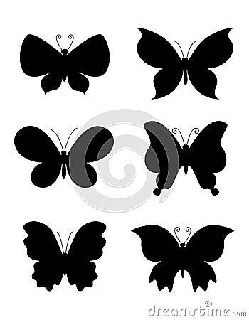 Silueta de la mariposa/de las mariposas