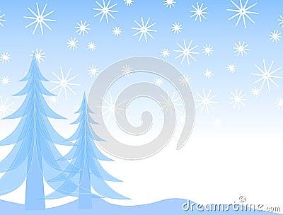 Silueta de la nieve del árbol de navidad