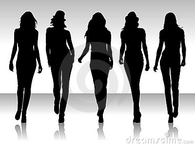Silueta de las mujeres