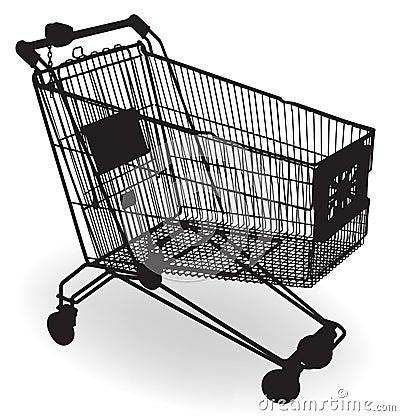 Silueta del carro de compras