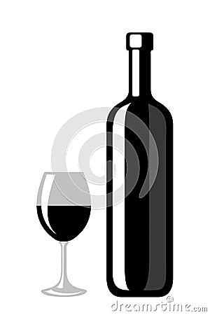 Copa negra vino