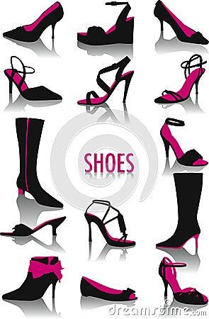 Siluetas de los zapatos