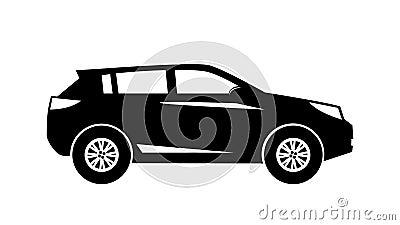 Siluetee el movimiento moderno de la vista lateral de SUV aislado libre illustration