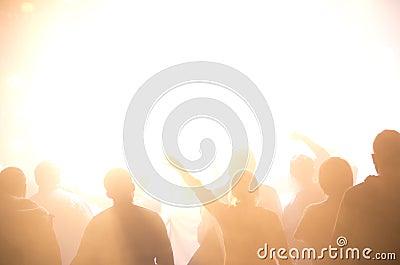 Siluette della folla di concerto
