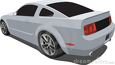 Silver 2008 Mustang Muscle Car