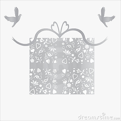 Silver 25th Wedding Anniversary Gift Card