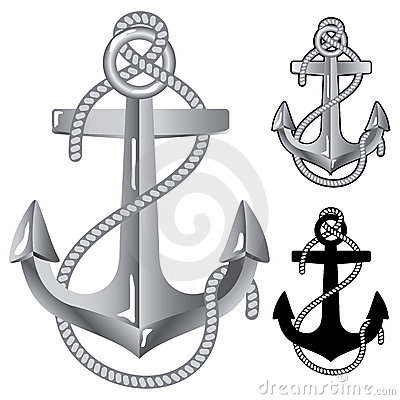 Silver anchor.