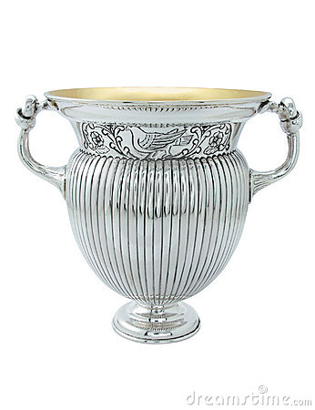 Silver ancient amphora