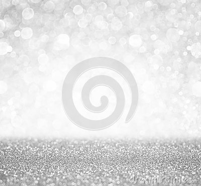 Free Silver And White Bokeh Lights Defocused. Abstract Background Royalty Free Stock Images - 43471169