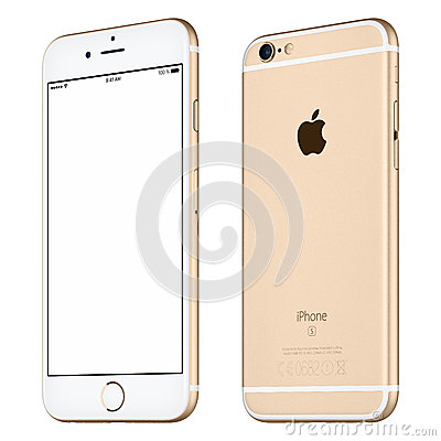 Free Silver Apple IPhone 6S Mockup Slightly Rotated Front View Royalty Free Stock Photos - 68091548