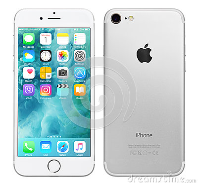 Free Silver Apple IPhone 7 Royalty Free Stock Image - 91940476